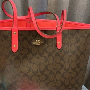 Coach Reversible Tote Bag with Zip Up Pouch